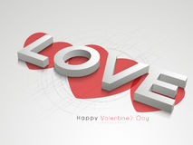 Happy Valentines Day celebration with 3D text Love. Stock Photography