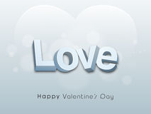 Happy Valentines Day celebration with 3D text. Royalty Free Stock Photos
