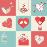 Happy Valentines Day celebration elements. Stock Photos