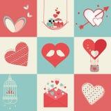 Happy Valentines Day celebration elements. Stock Photos