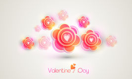 Happy Valentines Day celebration with flowers. Stock Photo