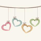 Happy Valentines Day celebration greeting card. Stock Photos