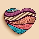 Happy Valentines Day celebration with heart shape. Royalty Free Stock Photos
