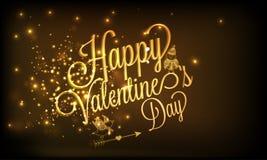 Happy Valentines Day celebration poster. Stock Photo