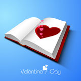 Happy Valentines Day celebration with red heart. Royalty Free Stock Image