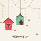Happy Valentines Day celebration with small huts. Stock Image