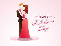 Happy Valentines Day celebration with young couple. Royalty Free Stock Photos