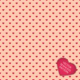 Happy Valentines day collection background. Seamless pattern with hearts Stock Photography
