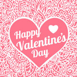 Happy Valentines Day congratulation card with Royalty Free Stock Photo
