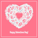 Happy Valentines Day congratulations card. Royalty Free Stock Photos