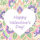 Happy Valentines Day congratulations card. Stock Photo