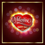 Happy Valentines Day. Creative graphic message for You design.Vector blurred background. royalty free illustration