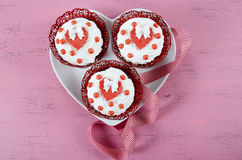 Happy Valentines Day cupcakes Royalty Free Stock Image