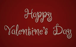 Happy Valentines Day 3d card Stock Photo