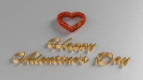 Happy Valentines Day 3D Render Royalty Free Stock Photos
