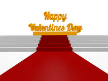 Happy Valentines Day, 3d render Stock Photography