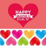Happy valentines day design Stock Photography