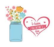 Happy valentines day design Royalty Free Stock Image