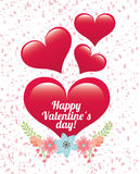 Happy valentines day design Royalty Free Stock Photography