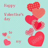 Happy valentines day design template. Valentine`s Day poster. Stock Image