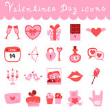 Happy valentines day doodle icons. Happy valentines day icons,valentine illustration,love,holiday royalty free illustration