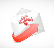 Happy valentines day email sign illustration Stock Photo