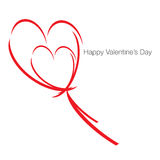 Happy Valentines Day. Embraced Hearts at dance this Valentine Season royalty free illustration