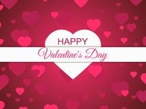 Happy Valentines Day, 14 February. Greeting card background with hearts. Vector. Illustration Stock Image
