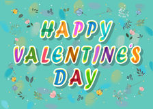 Happy Valentines Day. Floral card Royalty Free Stock Photos