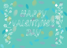 Happy Valentines Day. Floral card Stock Photography