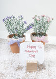 Happy valentines day with flowers Royalty Free Stock Photo
