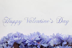 Happy valentines day - flowers Royalty Free Stock Images