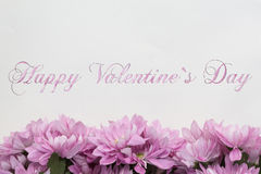 Happy valentines day - flowers Stock Images