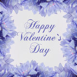 Happy valentines day - flowers Royalty Free Stock Photography
