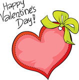 Happy Valentines day - freehand vector Royalty Free Stock Photography