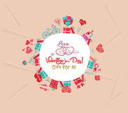 Happy valentines day gift for all Stock Photos