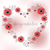 Happy Valentines day gift card. Stock Photo