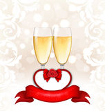 Happy Valentines Day Glowing Background Royalty Free Stock Photos