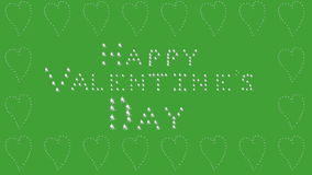 Happy Valentines Day, green, heart border stock footage