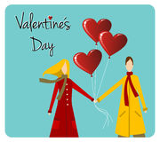 Happy Valentines day greeting card Stock Images