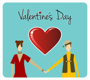 Happy Valentines day greeting card Royalty Free Stock Image