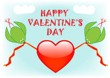 Happy valentines day greeting card Royalty Free Stock Images