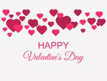 Happy Valentines Day. Greeting card background with hearts. Vector. Illustration Royalty Free Stock Image