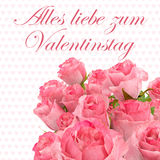 Happy valentines day greeting card 2 Royalty Free Stock Photography