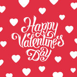 Happy Valentines Day greeting card design. Happy Valentines Day greeting card with hand lettering in flat style. Typographic vector illustration for 14 February Vector Illustration