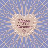 Happy valentines day greeting card design Stock Images