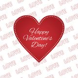 Happy valentines day greeting card 14 february heart. Love Stock Photo