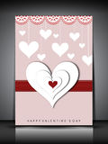Happy Valentines Day greeting card, gift card or background. EPS Stock Photo