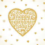 Happy valentines day - greeting card royalty free illustration