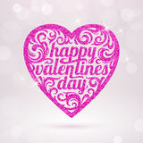 Happy valentines day - greeting card Stock Photo